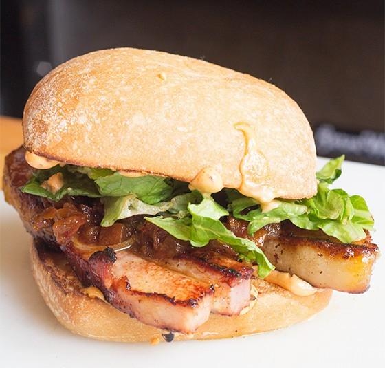 The Capitalist Pig's pork belly BLT. - MABEL SUEN
