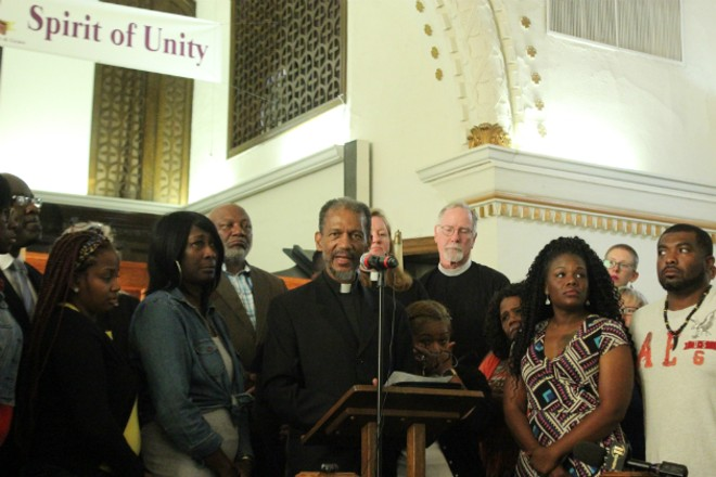 The Rev. Darryl Gray says he was trying to protect a fellow pastor when he was arrested. - PHOTO BY DOYLE MURPHY