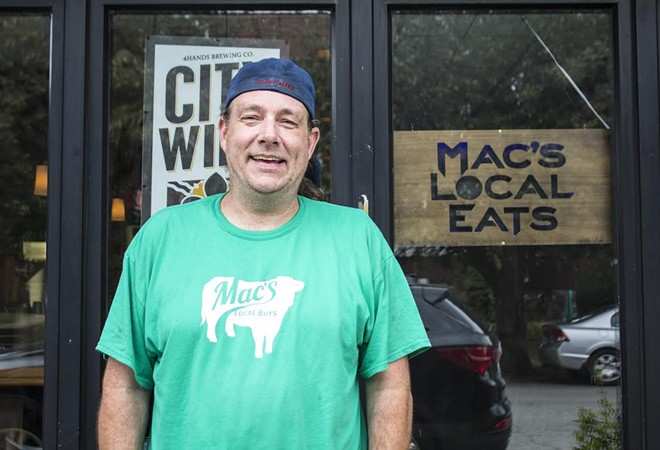 "Chris ""Mac"" McKenzie of Mac's Local Eats and Mac's Local Buys. - SARA BANNOURA"