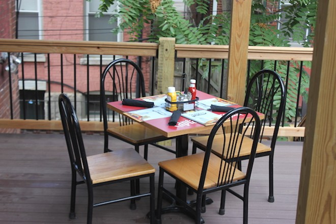 A new second-floor deck provides seating. - PHOTO BY SARAH FENSKE