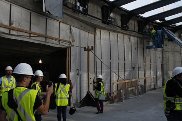 This is the walkway where the new entrance will be. On the left is where visitors will enter the museum. - KATIE HAYES
