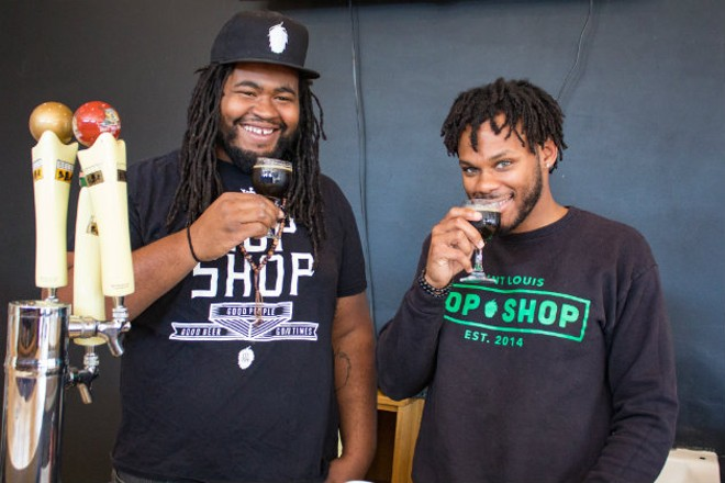 Justin Harris and Ryan Griffin took a leap of faith to open St. Louis Hop Shop. - SARA BANNOURA