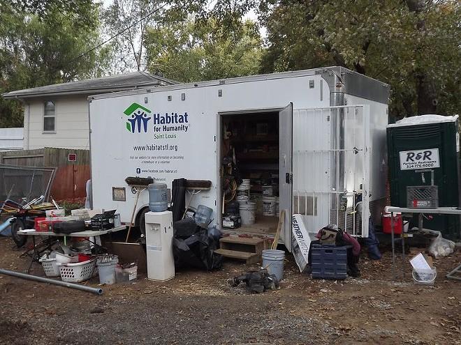Habitat for Humanity's trailer full of tools was stolen overnight. - PHOTO VIA HABITAT FOR HUMANITY/FACEBOOK