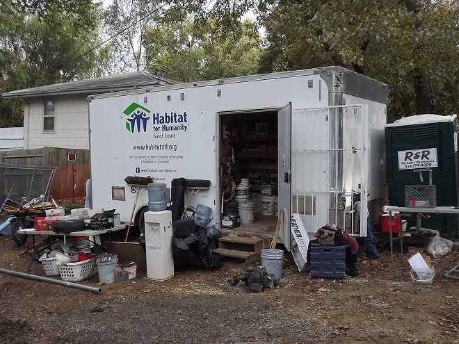 Habitat for Humanity's trailer full of tools was stolen overnight. - PHOTO VIA HABITAT FOR HUMANITY/FACEBOOK
