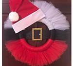 Santa Tutu Wreath Party