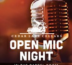 Cedar Lake Cellars' Open Mic Nights