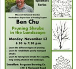 Ben Chu: Pruning Shrubs in the Landscape