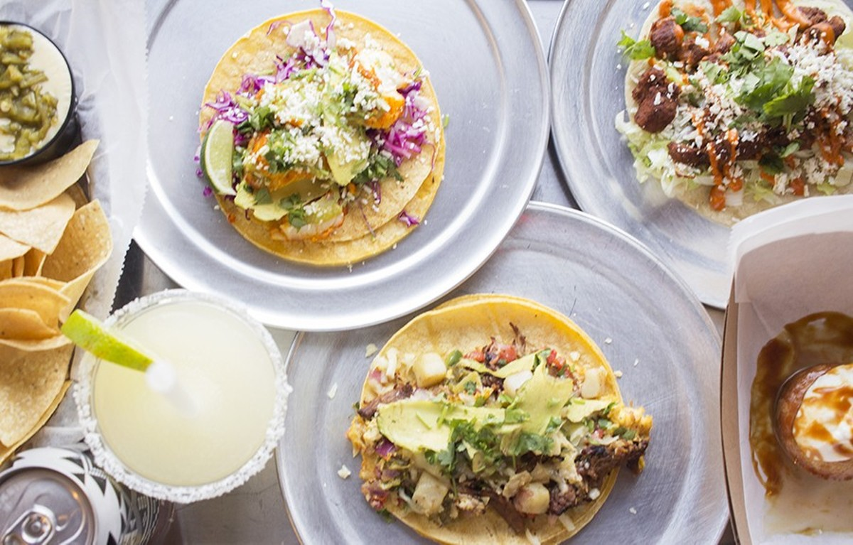 Taco Buddha offers a variety of tacos, along with refreshingly tart margaritas and tres leches cake.