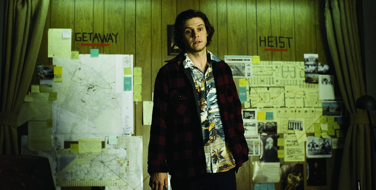 Evan Peters plays one of the inept book thieves in American Animals.