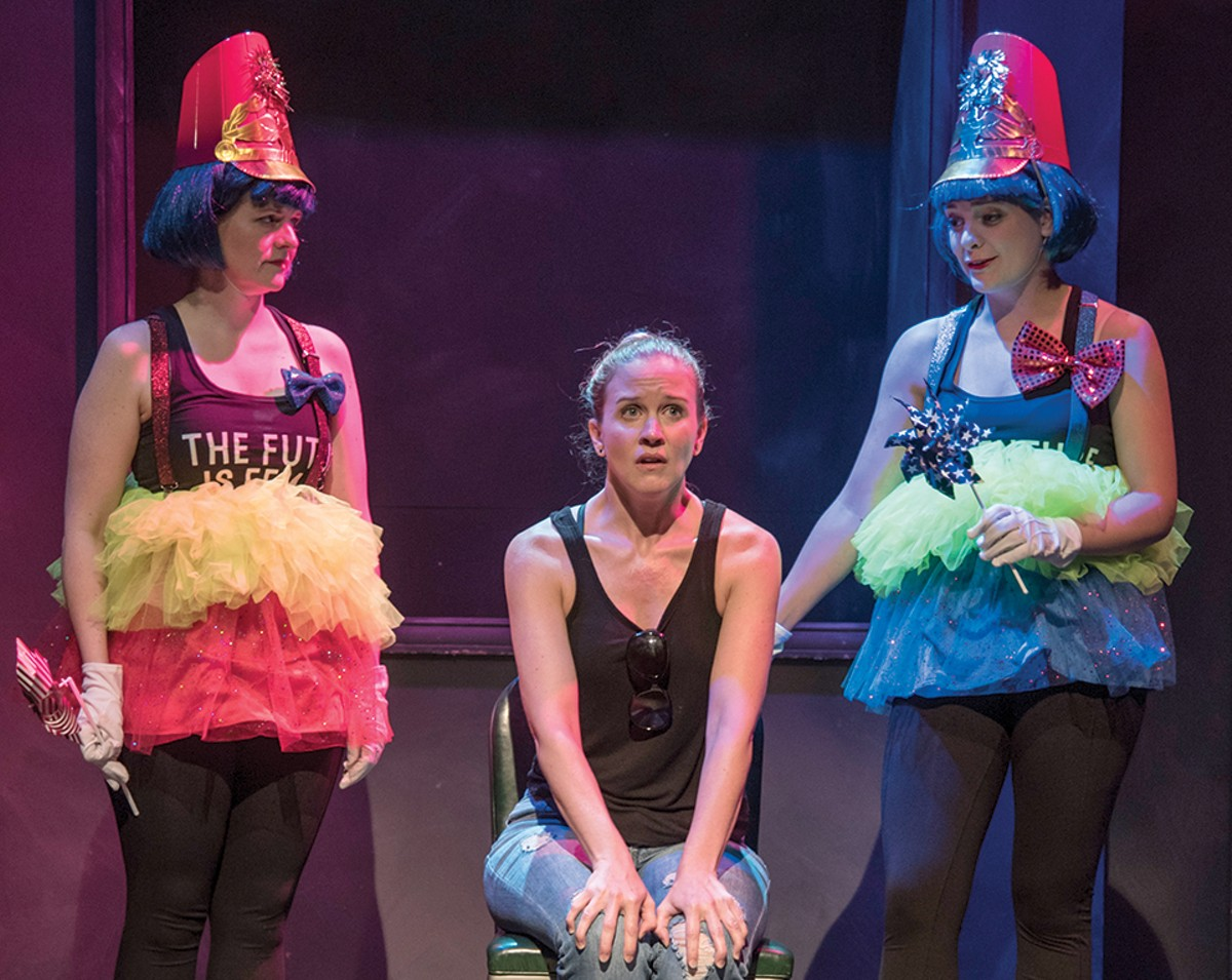 "Erin Brewer (center) is a woman haunted by ""might-have-beens"" in ""Shut Up and Dance."""