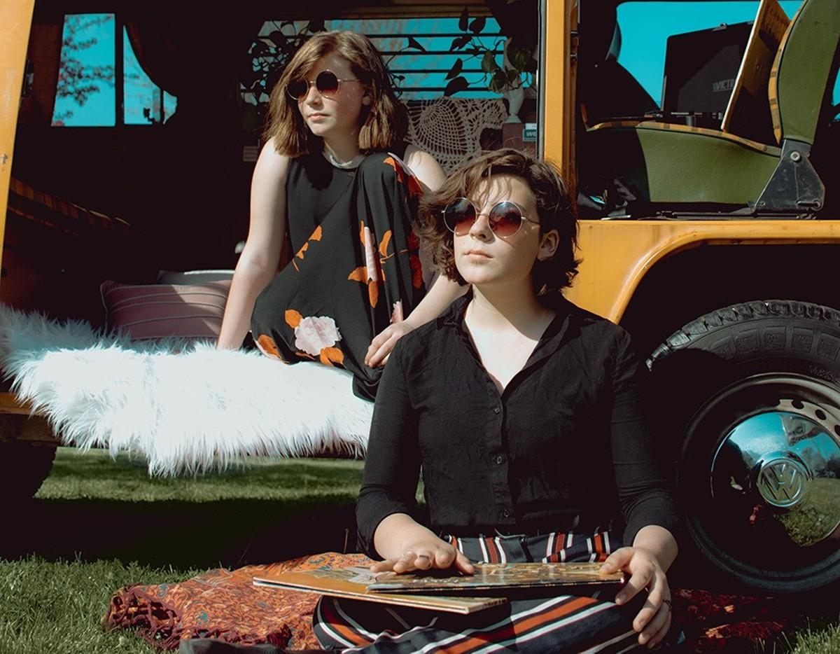 At ten and thirteen, respectively, Emma (left) and Olivia Burney have already written a host of songs.