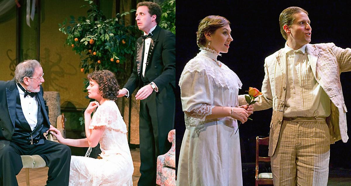 Left: Abie's Irish Rose. Right: The Cassilis Engagement.