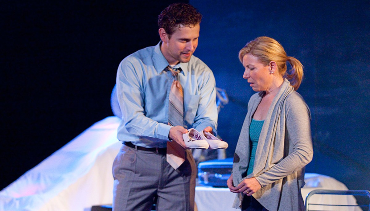 Martin Fox and Michelle Hand in Echo Theatre Company's God's Ear.