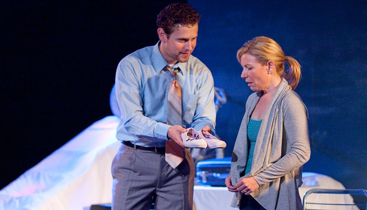 Martin Fox and Michelle Hand in Echo Theatre Company's God's Ear.