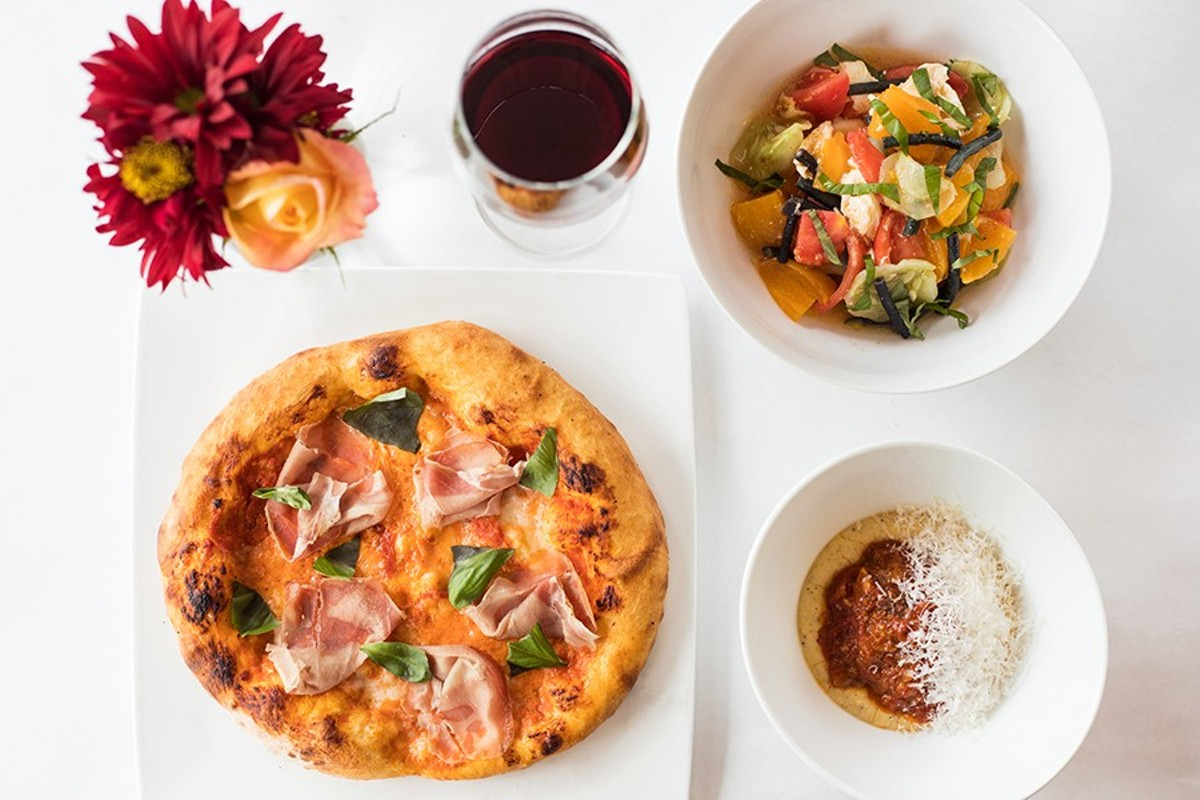 You can get heirloom tomato salad at J. Devoti Trattoria, or a meatball, or a pizza with sourdough crust.