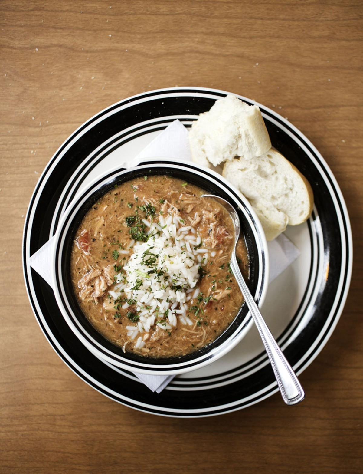 Riverbend's chicken and andouille gumbo.