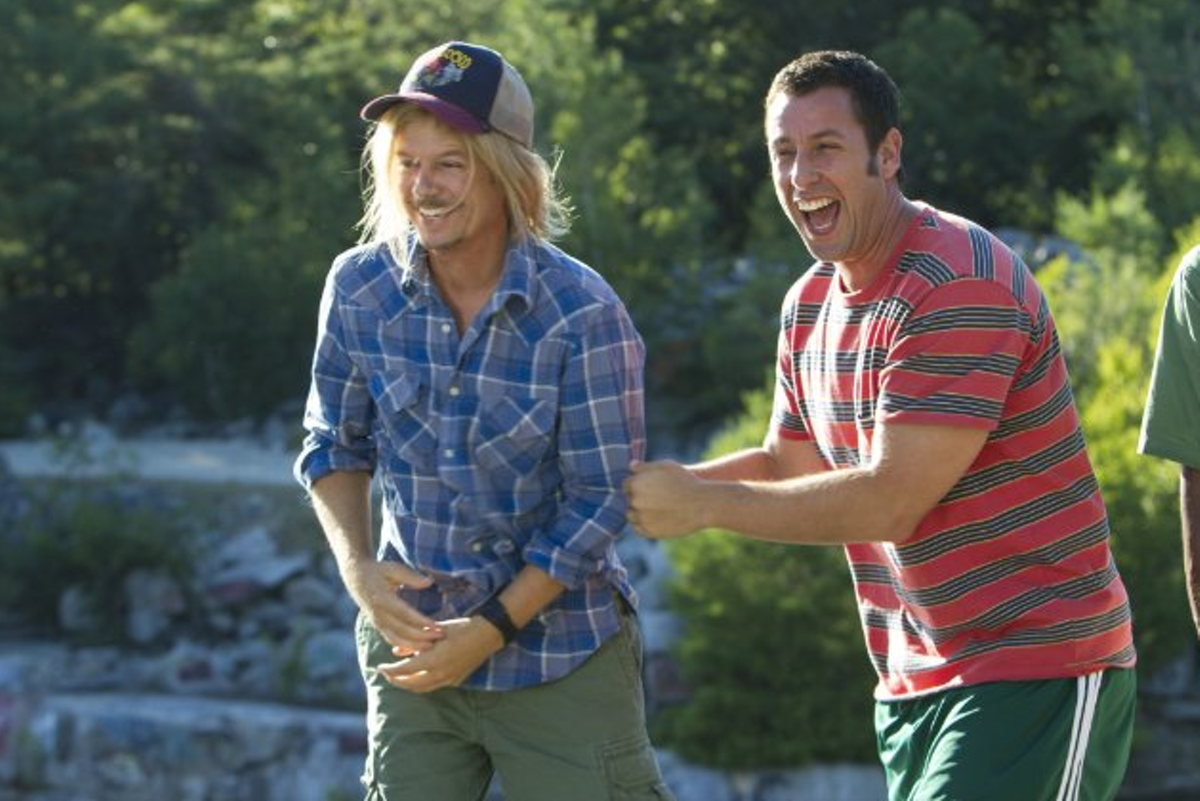 Adam Sandler and David Spade in Grown Ups 2.