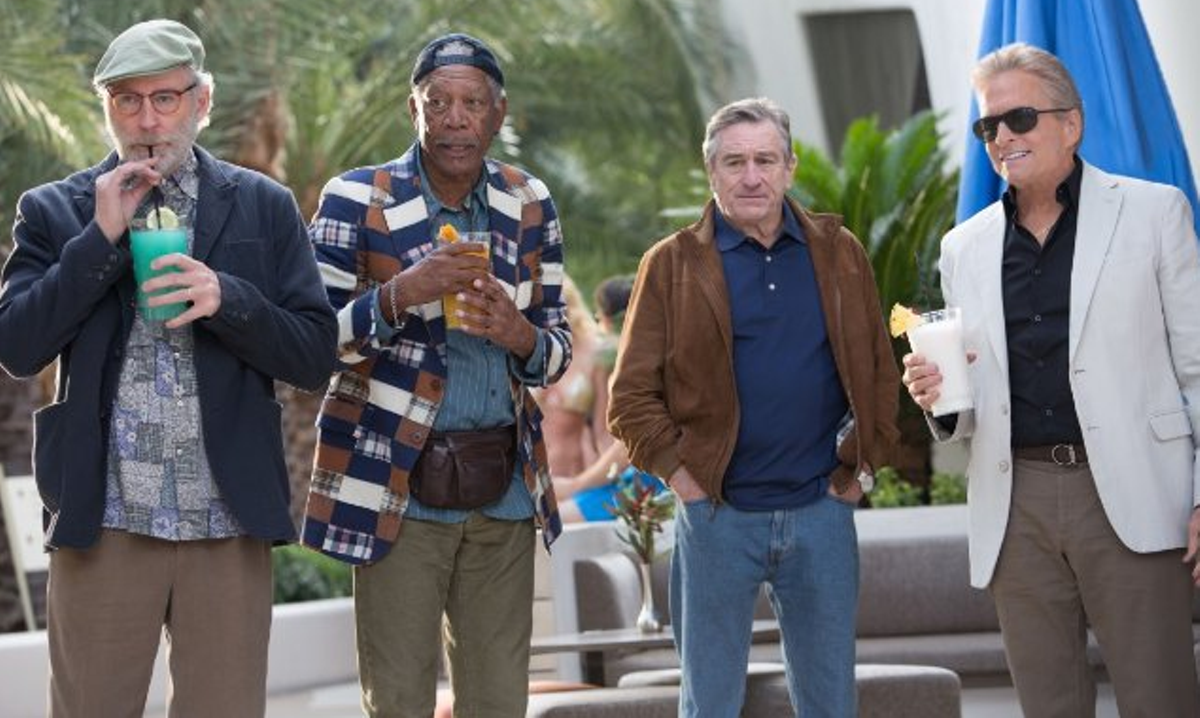 Robert De Niro, Michael Douglas, Morgan Freeman and Kevin Kline in Last Vegas.