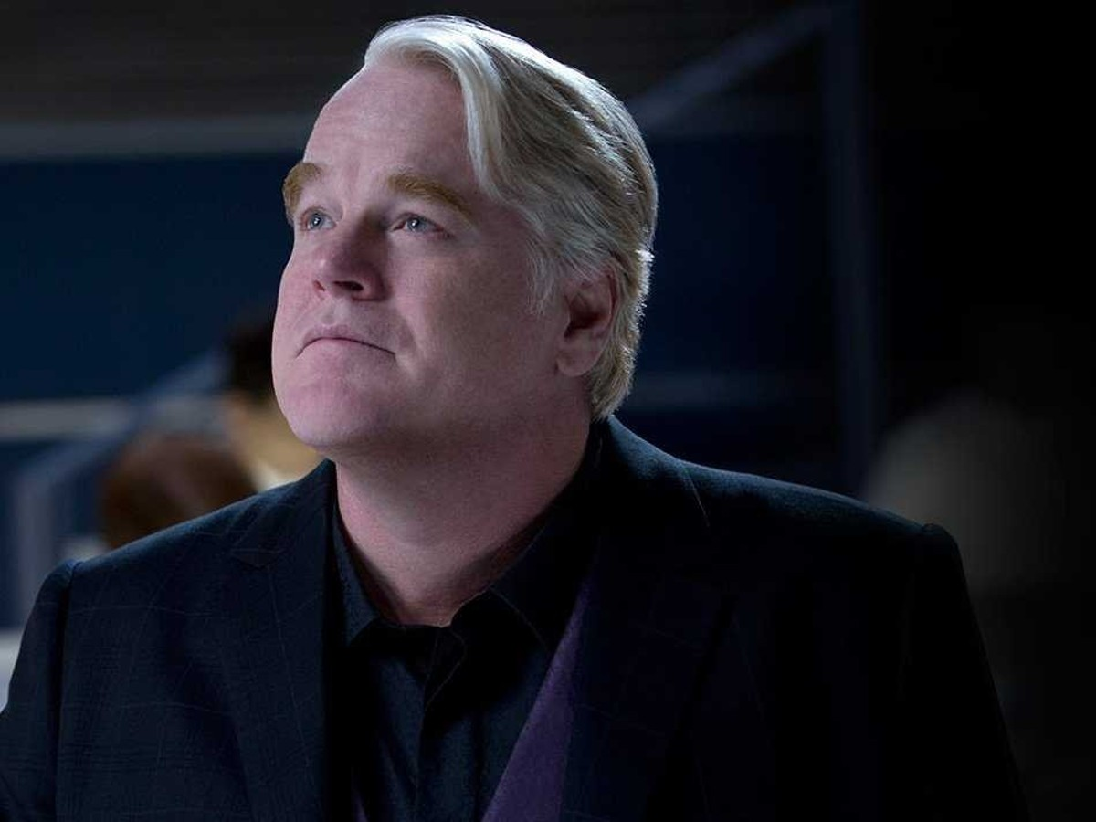 Philip Seymour Hoffman in The Hunger Games: Catching Fire.