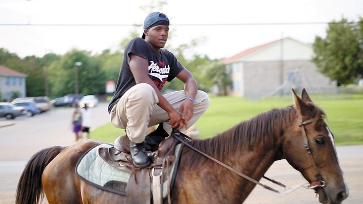 Willie on a horse, from Hale County This Morning, This Evening.