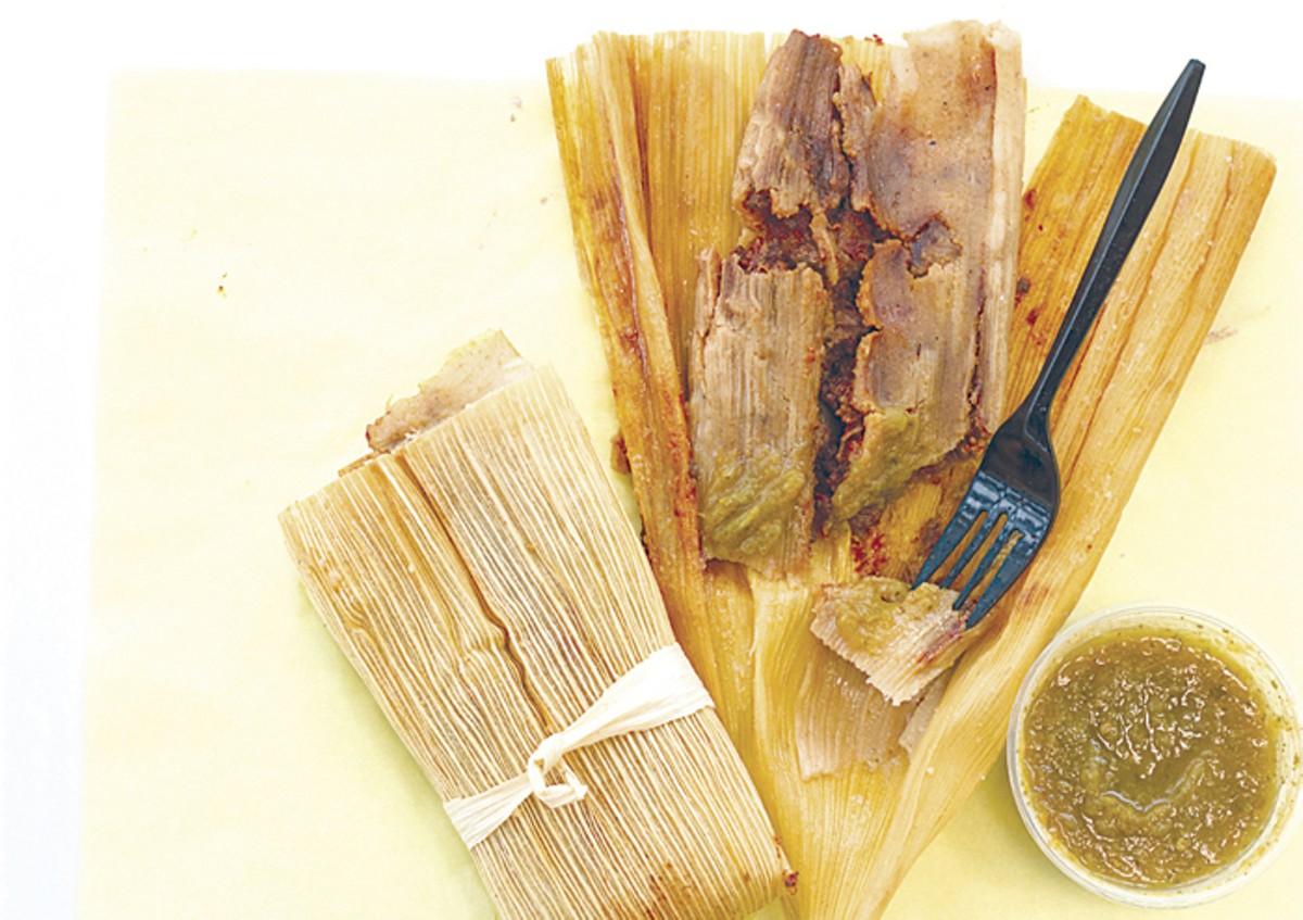 Fort Taco's housemade chicken tamales.