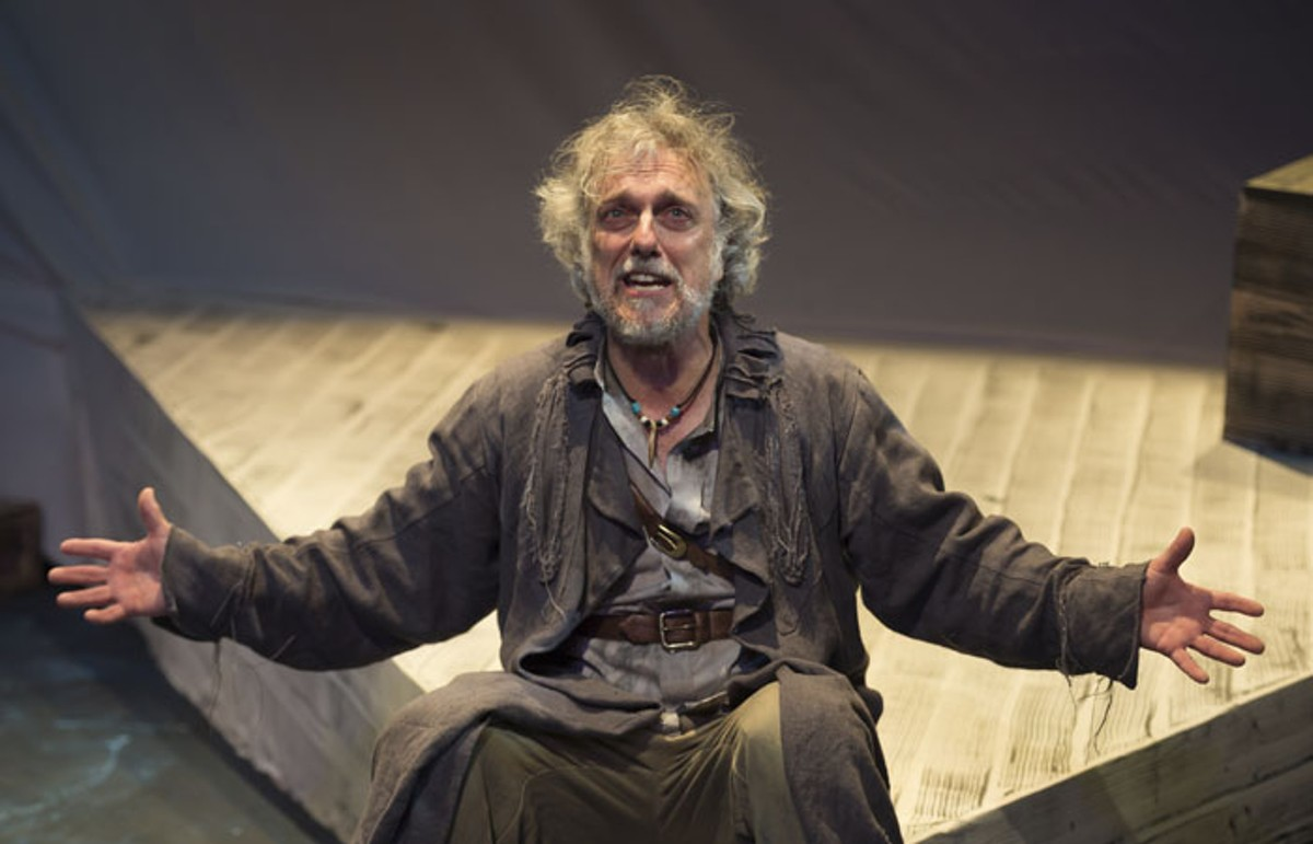 Jerry Vogel in Upstream Theater's Rime of the Ancient Mariner.