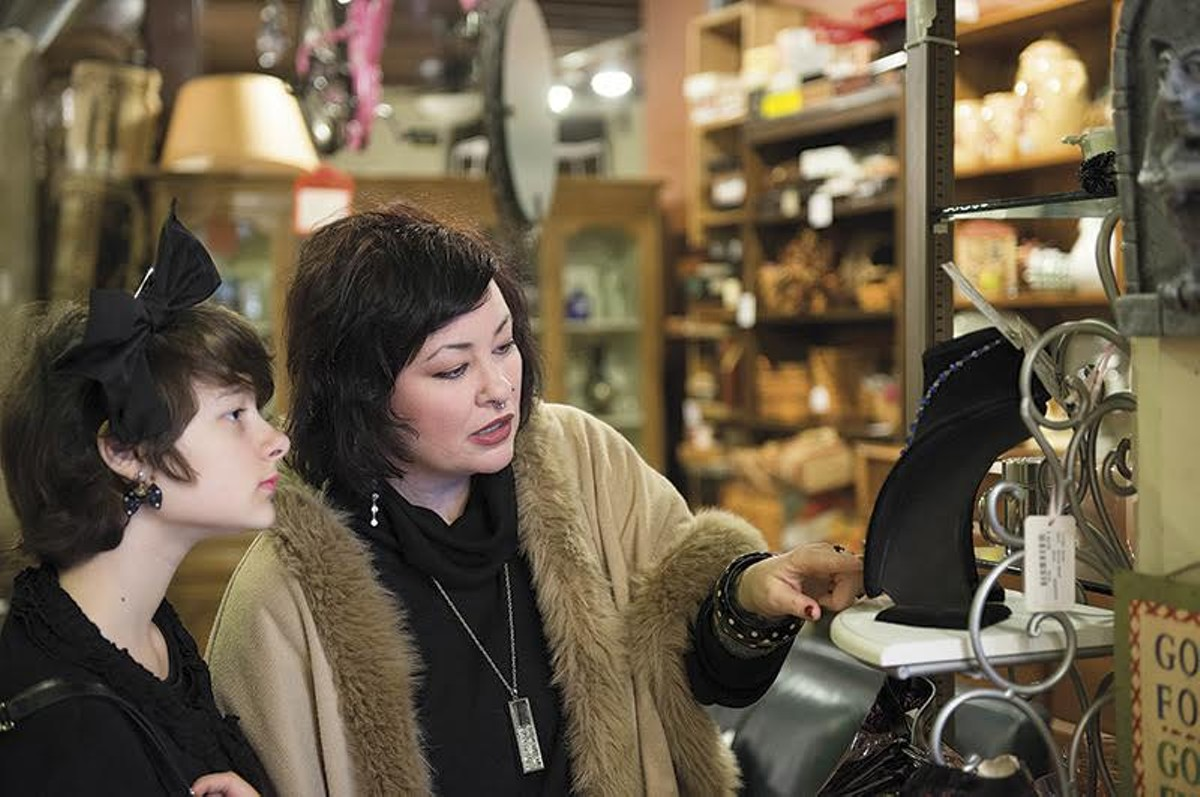 Charlotte Sumtimes and her daughter shop in St. Louis Hills.