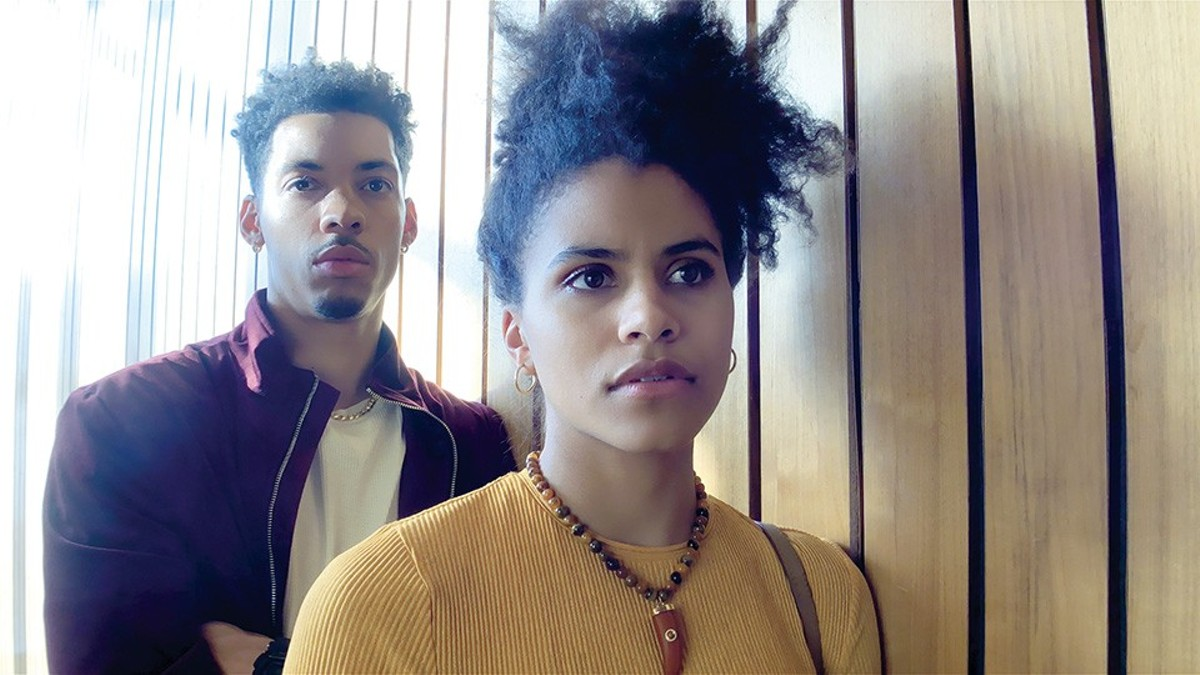 Melvin Gregg and Zazie Beetz in High Flying Bird.