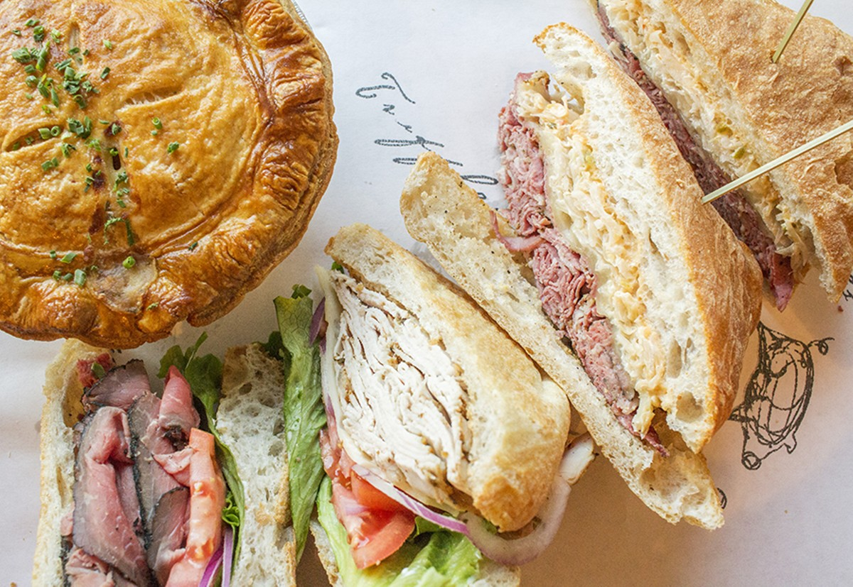 An array of sandwiches at Truffles Butchery -- and, oh, that pot pie!