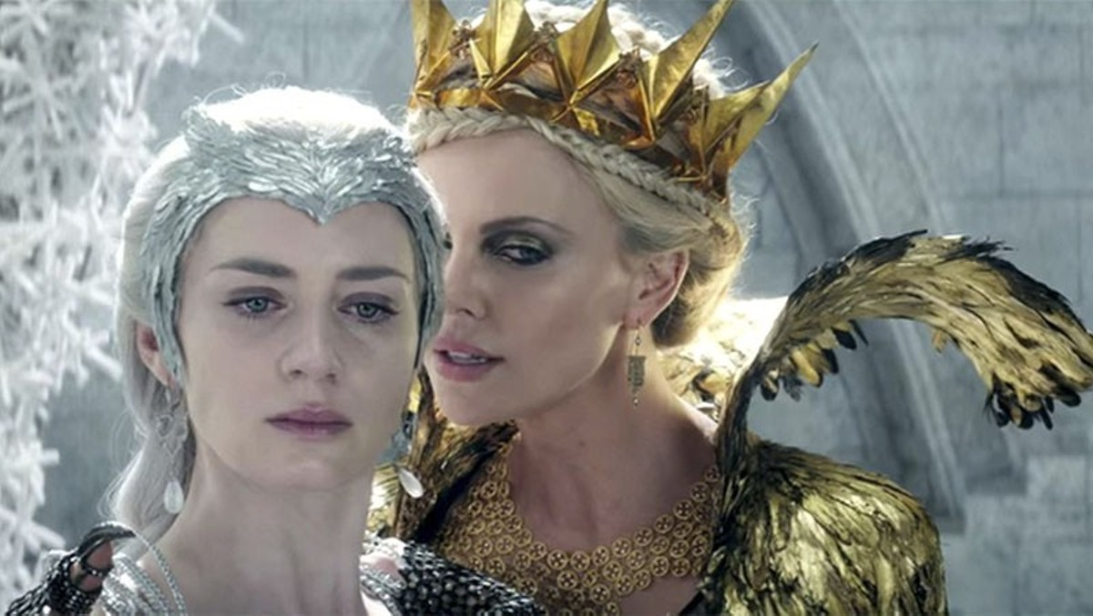 Emily Blunt and Charlize Theron indulge in evil.