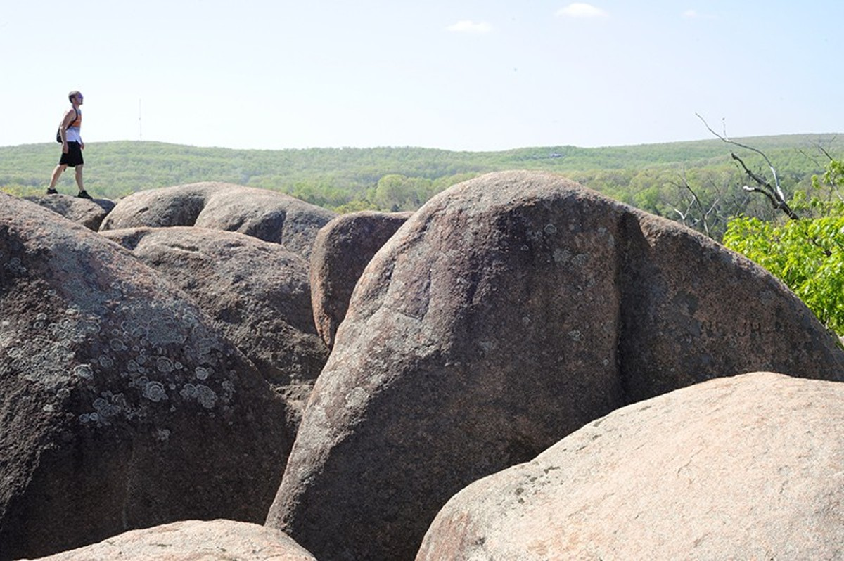 Elephant Rocks State Park offers great views and exploring for the whole family.