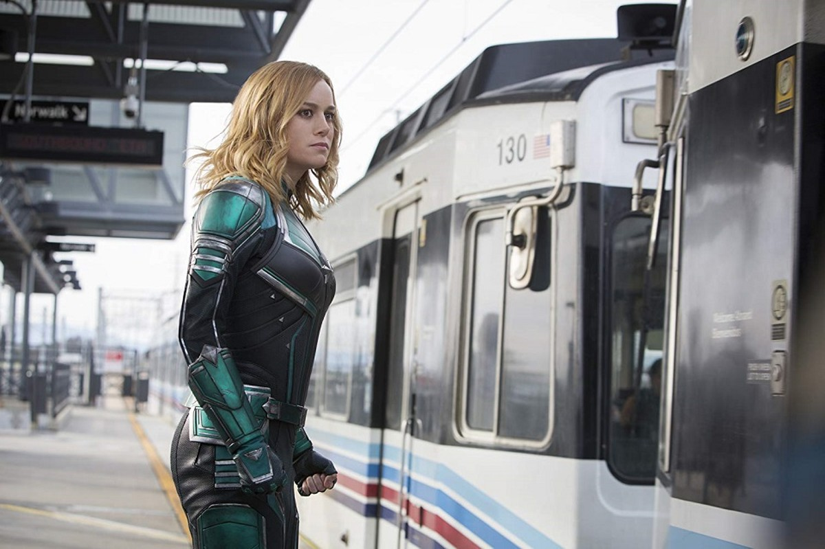 Captain Marvel (Brie Larson) is the hero we need -- an entertaining one.