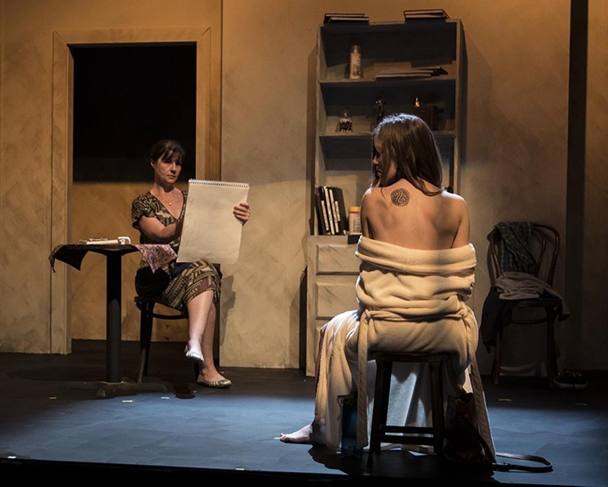 "Jenny Smith and Bridget Bassa in Neil LaBute's ""Life Model."""