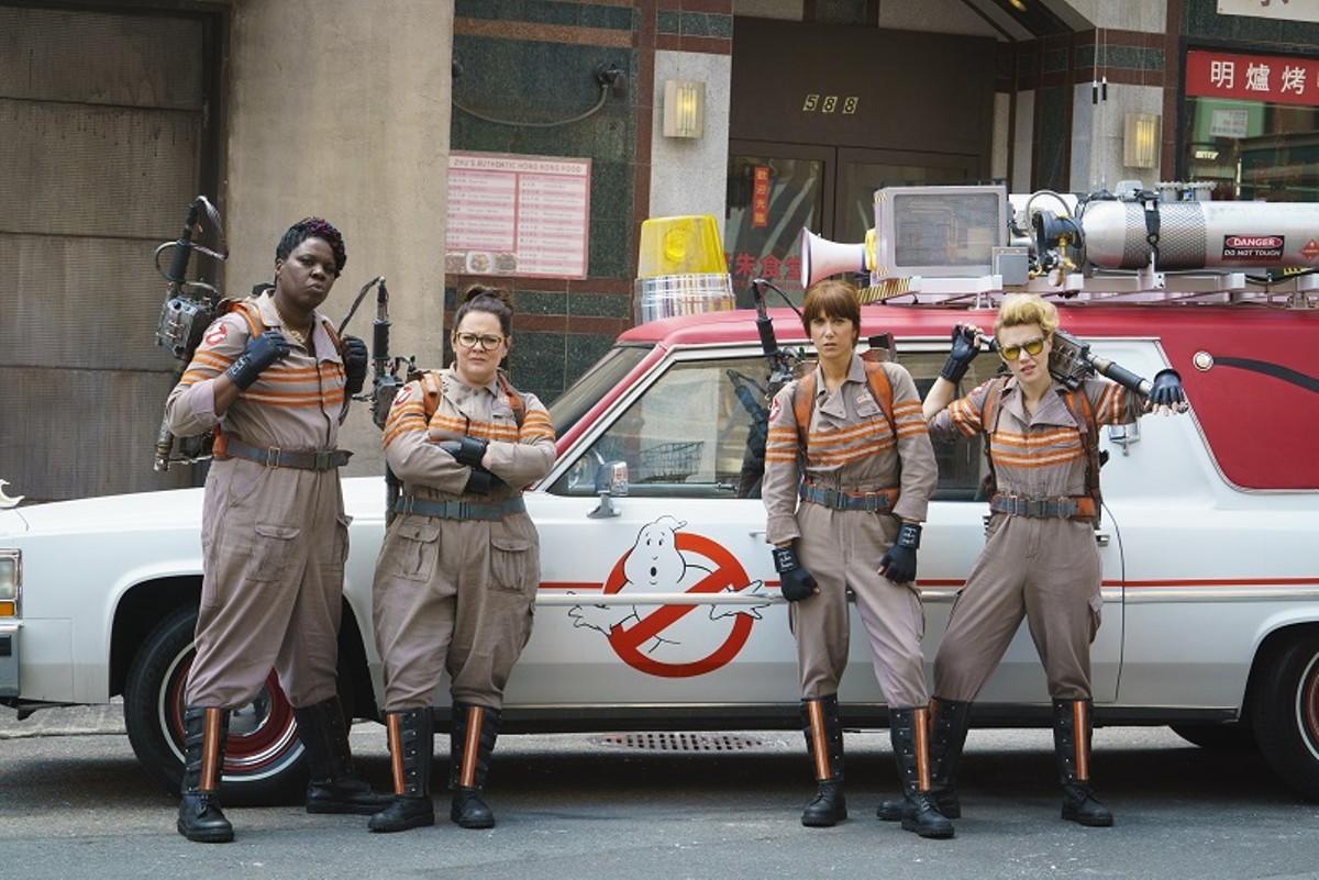 The gals of Ghostbusters: Leslie Jones, Melissa McCarthy, Kristen Wiig and Kate MacKinnon