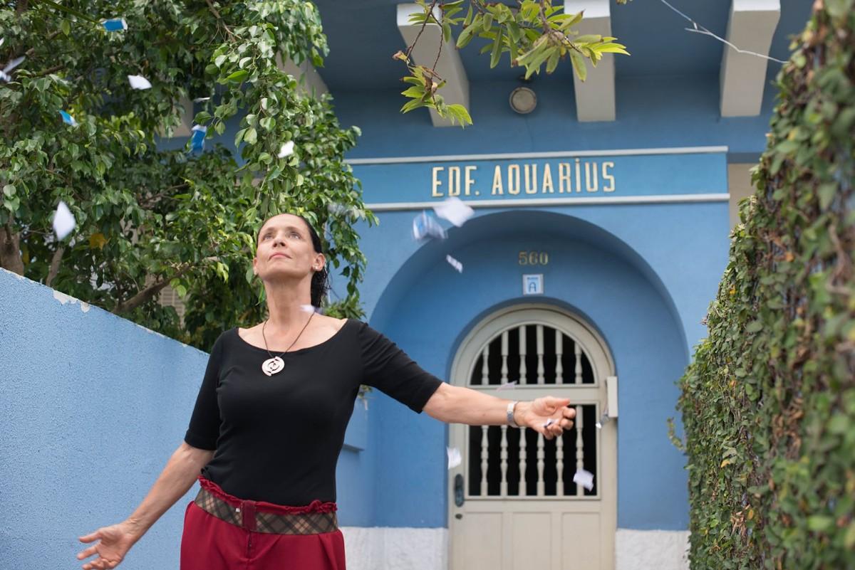 Actress Sonia Braga in Kleber Mendonça Filho's Aquarius.