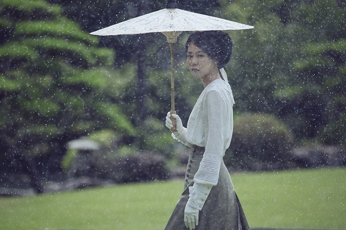 Lady Hideko (Kim Min-hee) finds her life turned upside down by the new maid in The Handmaiden.