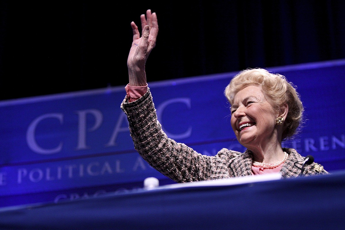 In Phyllis Schlafly's twilight years, a bitter fight over her chosen successor divided her empire.