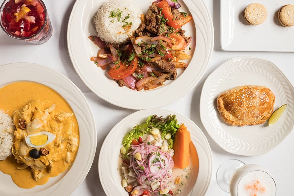 Cocina Latina serves classic Peruvian dishes including lomo saltado, alfajores, aji de gallina, ceviche and empanadas.