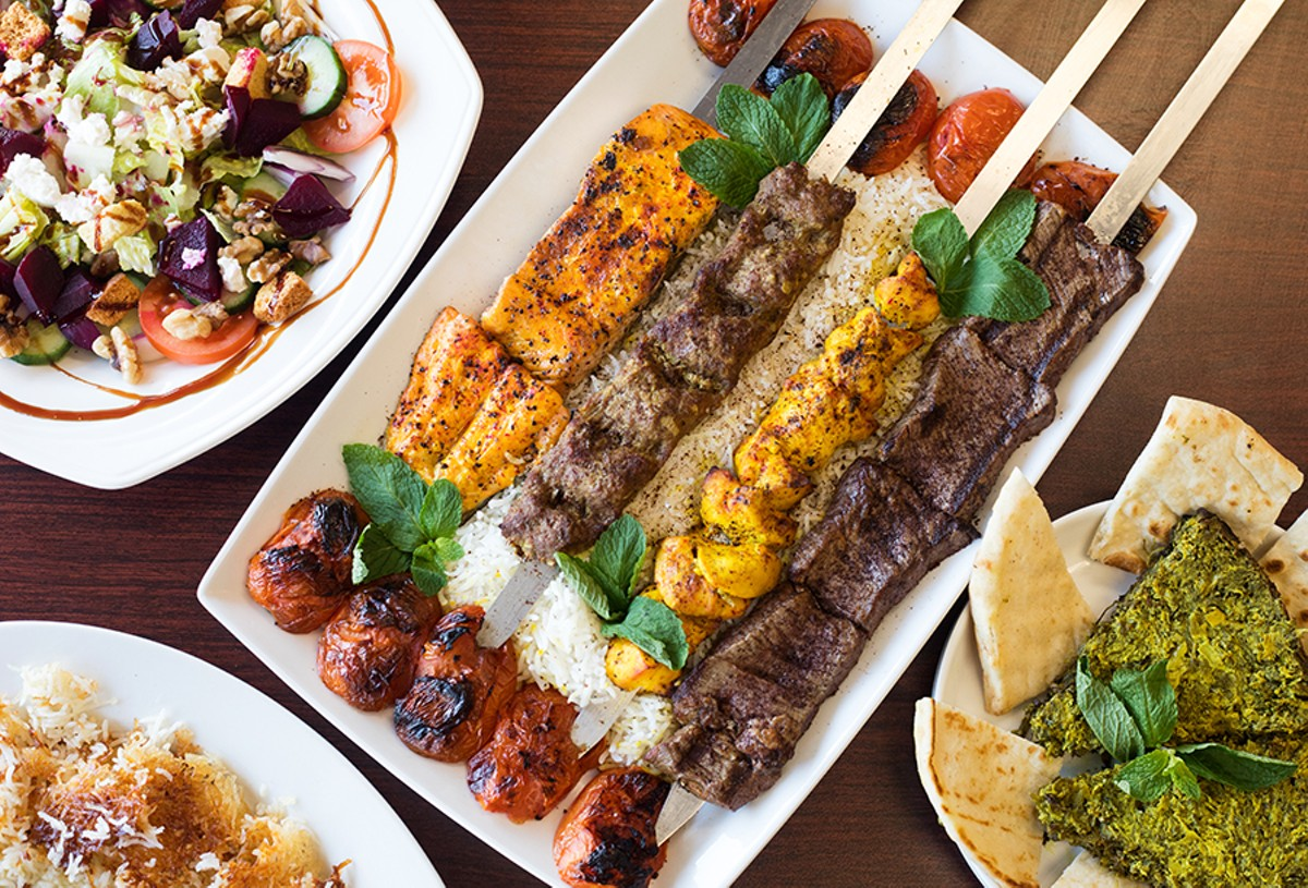 You can't go wrong with Esther's beet salad, kabob platter, kookoo sabzi or tahdig.