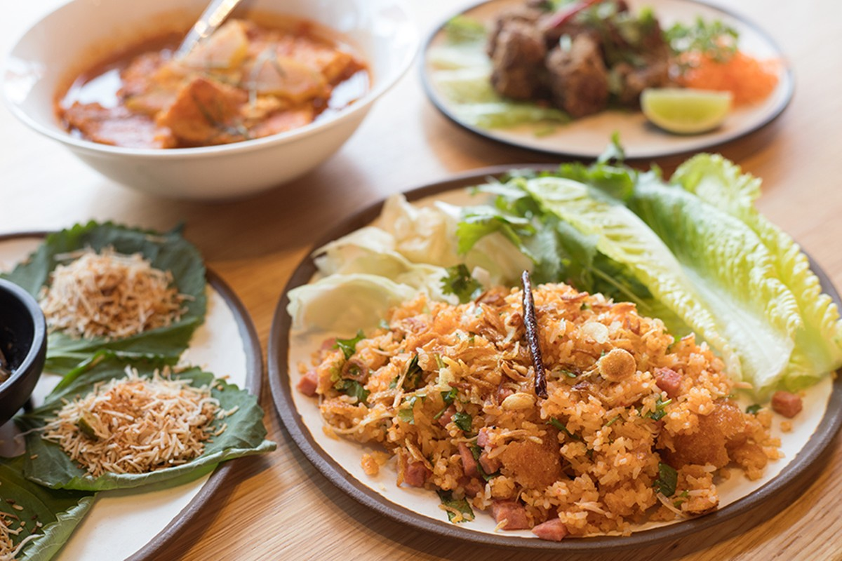 Spice is a key feature of the Chao Baan menu, such as in the khao tod nam sod, accented with additional heat from curry paste.