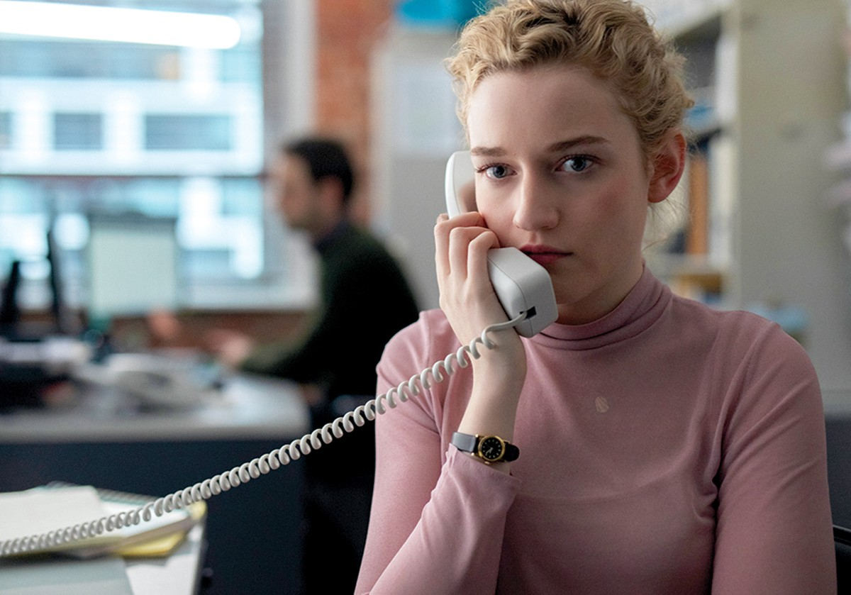 Julia Garner stars as Jane in The Assistant.