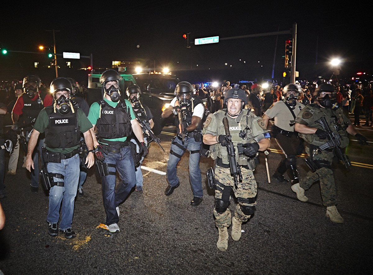 Images of heavily armed police six years ago in Ferguson shocked the country. Now, similar scenes are playing out in every major U.S. city.