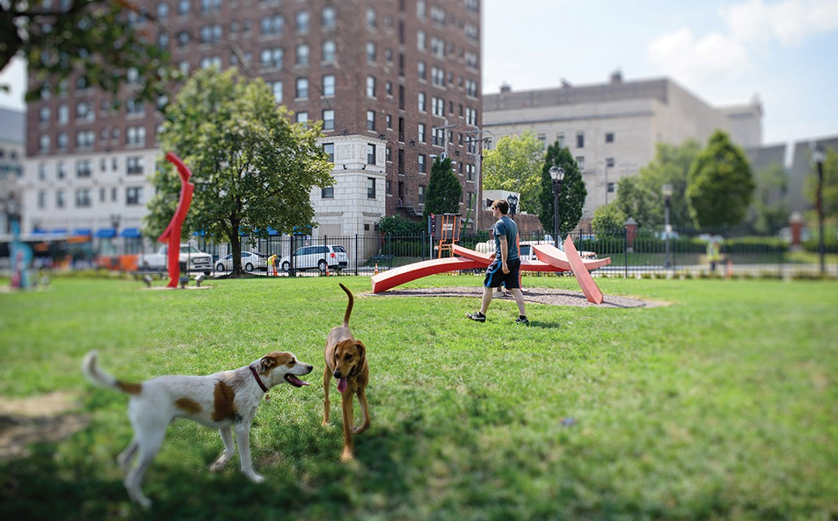The Ellen Clark Sculpture Park has become a go-to spot for lovers of art and dogs.