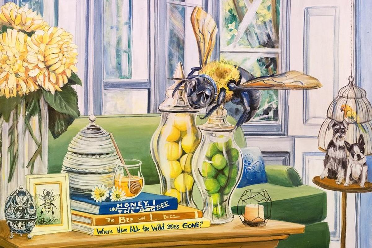 The Bee Cause - ©Mollie Chounard - Acrylic - 22x28