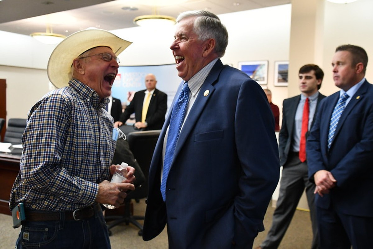 Governor Mike Parson tours the Live Animal Export Center at St. Louis Lambert International Airport.