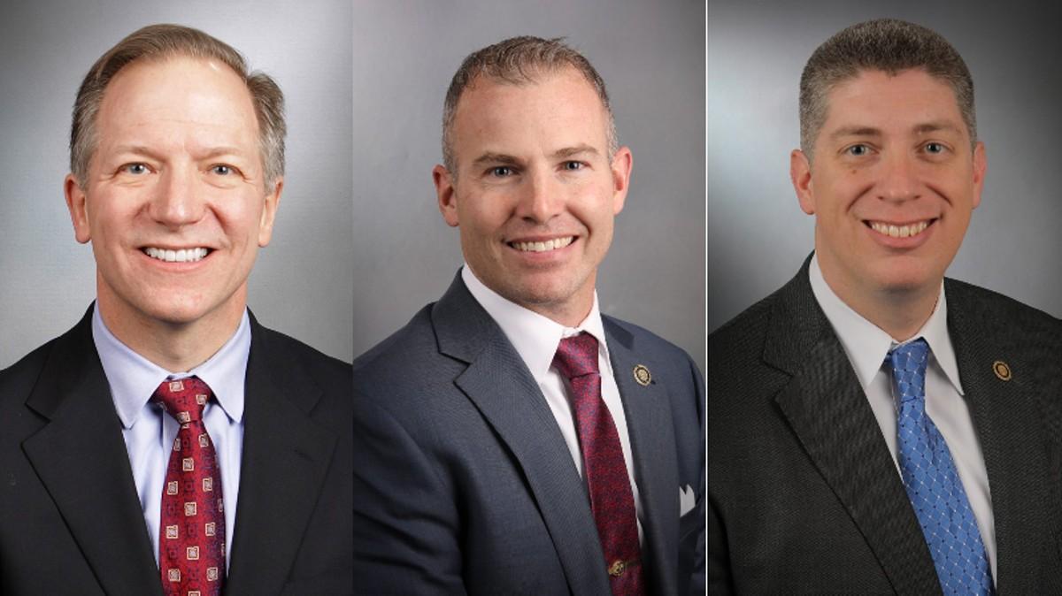 Republican Senators Bob Onder, Rick Brattin and Bill Eigel were among six working to block businesses from requiring vaccines.