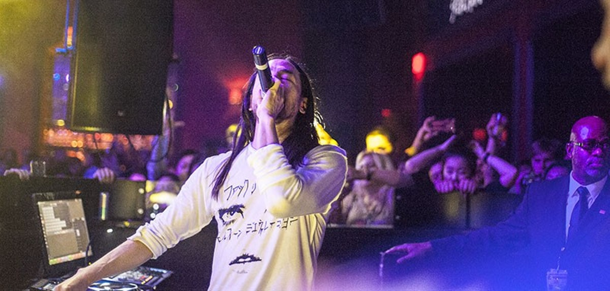 Steve Aoki performing at Ryse in St. Charles, a new EDM hotspot.