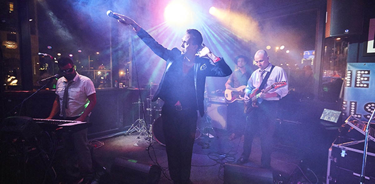 Jason Nelson gained fame as the vocalist for MU330. Now his many, many tribute bands keep him busy.
