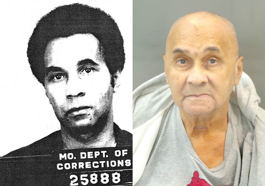 Four murders, two mugshots. On the left, Torrance Epps in 1973. On the right, Epps in 2017. - MUGSHOTS VIA POST-DISPATCH