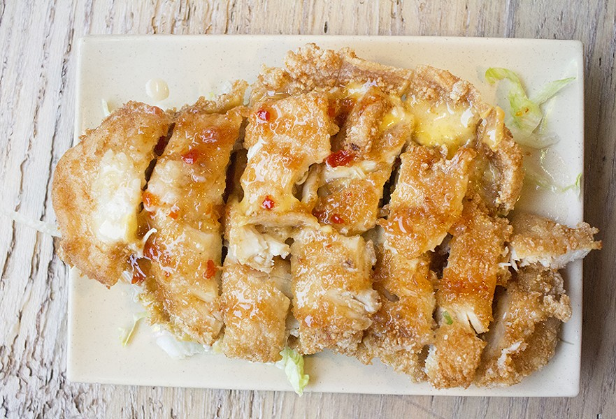 "The ""Volcano Chicken"" combines fried chicken with cheese. - MABEL SUEN"